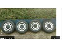 Set of T5 wheels all good tyres