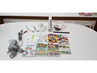 Nintendo Wii White (8 Games inc; Wii fit & Guitar Hero)