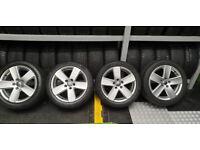 VW Genuine Monte Carlo 17 alloy wheels + 4 x tyres 235 45 17