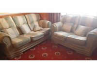 Used good condition 3 Piece Sofa set 3 seater 2 seater and 2* 1 seater