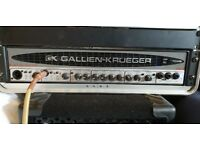 Gallien Krueger RB700II bass guitar amp with Gator hard case