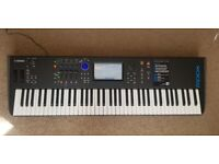 Yamaha MODX7 with box and packaging