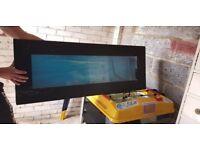 Slim line wall mounted fish tank