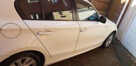 2010 White BMW 1 Series 2L 116d Manual, great car, runs amazingly, very low mileage, great on fuel