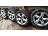 "16"" Alloy wheels x4 with tyres 205/55 R16 - Ford"
