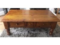 Apothecary style solid coffee table