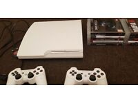 White ps3 320GB +20 Great games +2 controllers