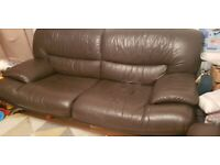 FREE Leather sofa set - Collection only