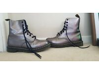 Womens metallic DOC MARTIN boots (size 6.5)