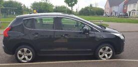 Peugeot 3008 1.6 Diesel. Black, 12 Plate. Clean, Low Mileage, Rear Parking Sensors MOT till 2019