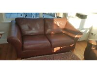 Barker & Stonehouse genuine brown learner sofas