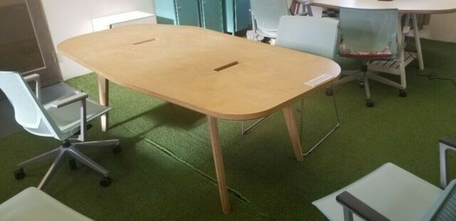 Hardwearing Wooden Opendesk Office Desk | Cafe (Table Seats 6) | in  Clapham, London | Gumtree