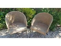 Pair of vintage rattan occasional chairs