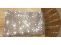 Extra Large Silver Sequin Tablecloth **Perfect for weddings or parties**