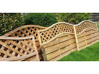4 trellis fence panels