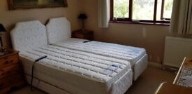 Adjustamatic 5ft Dual Bed with Massage & Airflow Mattresses - £7600 when new