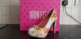 Brand new in box Womens Iron Fist Care Bears heels size 4