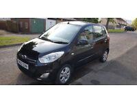 Hyundai I10 Black 2013 petrol, £20 tax, 70500 miles