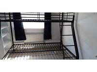 BLACK METAL TRIPLE BUNK BEDS REDUCED £100