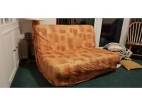 Sprung sofa bed, good condition, hardly used, always been covered by a blanket