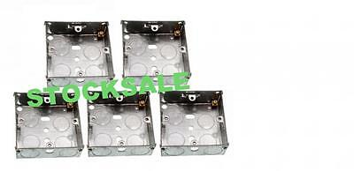 BN  5 X FLUSH MOUNT METAL ELECTRIC BACK BOX SINGLE 1 GANG 25MM Gang Flush Mount