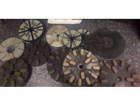 Job lot of 24 x Jenny Lind Type Diamond Metal Resin Discs & Resin Discs