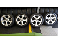 Audi A1 Genuine 16 alloy wheels + 4 x tyres 215 45 16