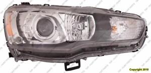 Head Lamp Passenger Side Hid Evolution High Quality Mitsubishi Lancer 2008-2015