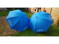 Pair of Large ECA Branded Umbrella's. Brand New in Sealed Cellophane