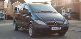 2010 (10) MERCEDES VITO TRAVELINER 115 CDI 150 BHP AUTOMATIC 8 SEATER MINIBUS LONG WHEEL BASE