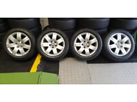 VW Genuine 16 alloy wheels + 4 x tyres 205 55 16 All Seasons