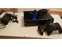 Xbox one console with 2 controllers and 12 games - very good condition