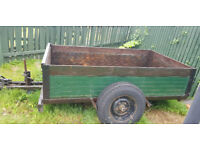 8x4 ex army strong trailer. Metal sides and well welded