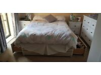 Double bed and double mattress for sale (COLLECTION ONLY)