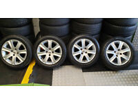 Peugeot Genuine 16 alloy wheels + 4 x tyres 195 55 16 M+S