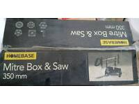HOMEBASE MITRE BOX AND SAW