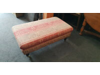 Gorgeous Large Chesterfield Style Tapestry Fabric Footstool / Coffee Table / Bench