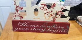 Wall /Freestanding Home Plaque