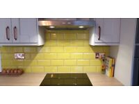 METRO YELLOW GLOSS TILES