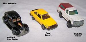 Vintage HOT WHEELS, 3 cars, 40 Ford, Ford Escort & truck