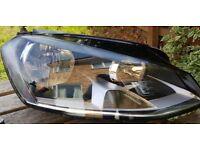 Volkswagen golf mk 7 o/s front headlight genuine
