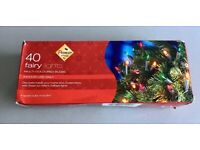 TRADITIONAL /RETRO STYLE XMAS FAIRY MULTI COLOURED LIGHTS 40 SET by PREMIER