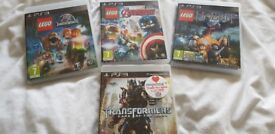 3 lego games and 1 transformer game