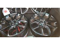 18 inch gloss black tibor alloy wheels