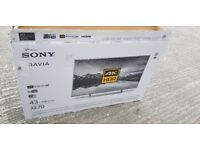 BRAND NEW BOXED SONY BRAVIA 43-inch SUPER SMART ULTRA SLIM 4K UHD HDR LED TV-KD43XE7073,Freeview HD