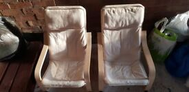 Two kid chillling chairs