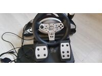 Tracer Zonda Racing Steering Wheel PC PS3 Vibration Feedback Pedals Gearbox TOP