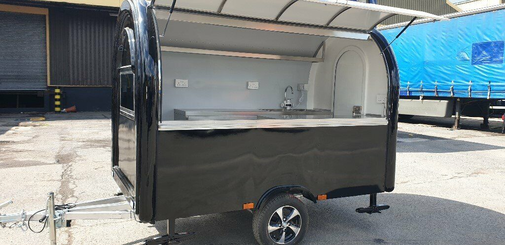 New Mobile Catering Trailer Burger Bar Coffee Sweets Crepe Trailer  2800x1650x2300 Ready To Go | in Luton, Bedfordshire | Gumtree