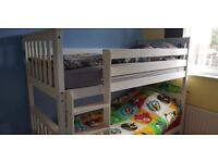 White wooden bunk beds for sale