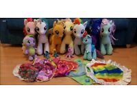 Build a bear my little pony collection toys and clothes